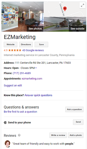 EZM - Google My Business Listing