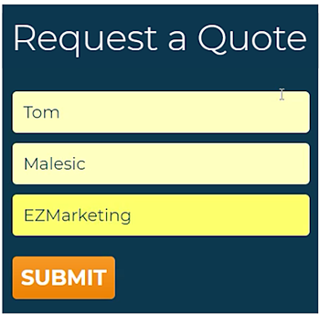 non-ADA compliant website forms