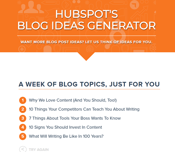 Hubspot Blog Idea Generator