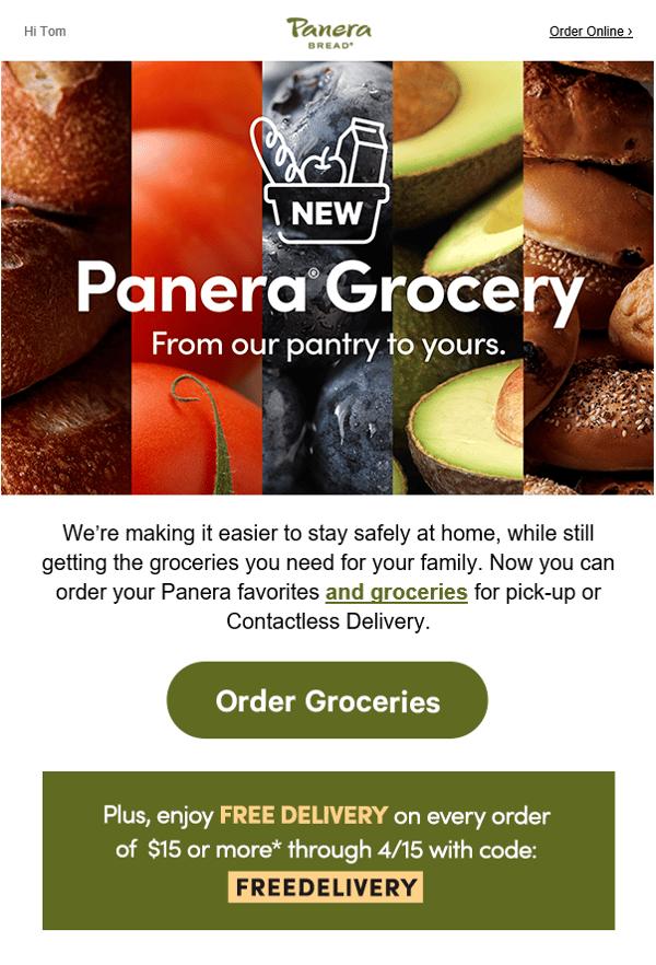 Panera groceries