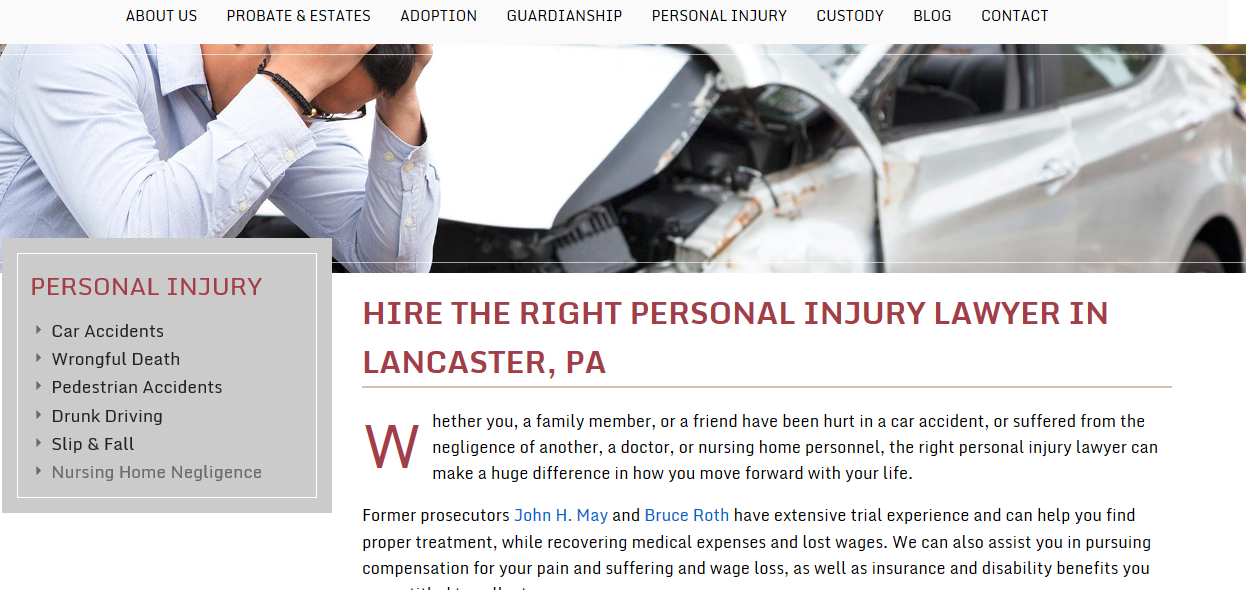 Pillar page_personal  injury_top