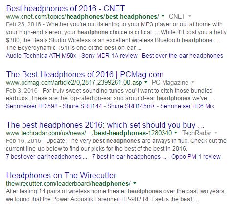best headphones results