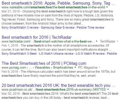 best smartwatch results