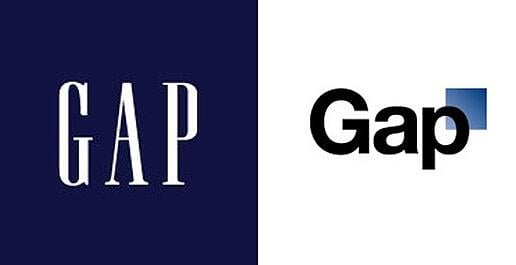 gap old vs new logo