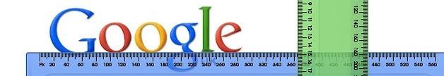 google pixel width ruler