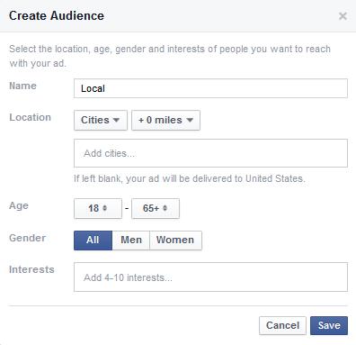 hyperlocal facebook targeting