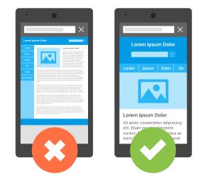 mobile friendly vs non mobile