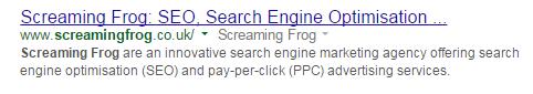 screamingfrog title tag