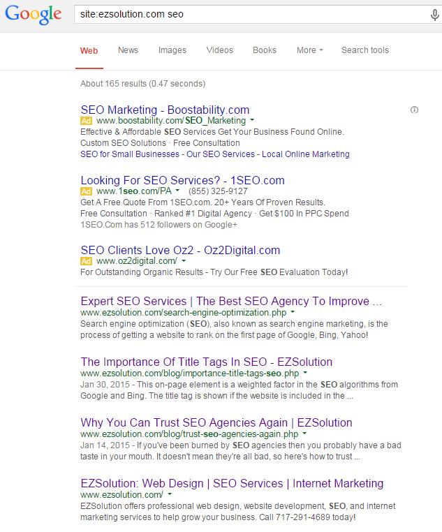 site search ezsolution seo