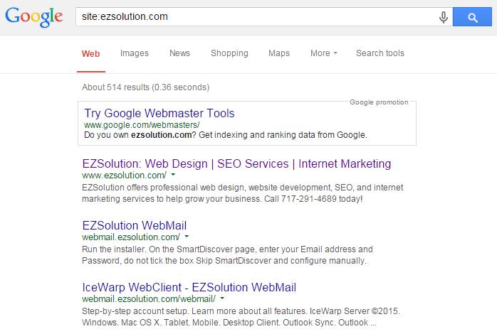 site search ezsolution