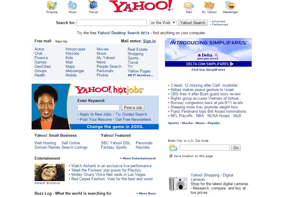 yahoo 2005