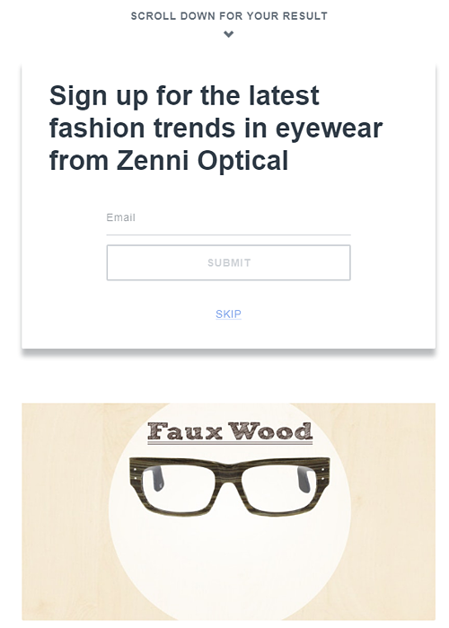 Zenni Optical Quiz