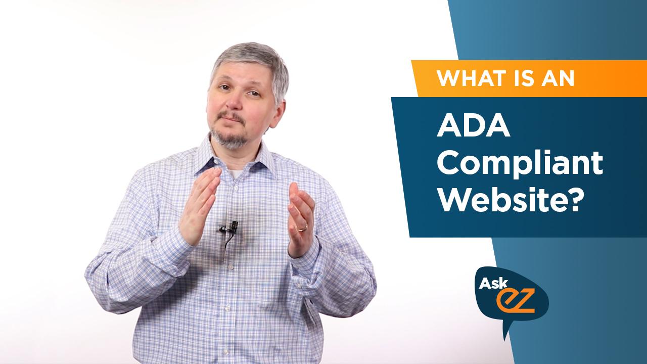 What is an ADA-compliant website?