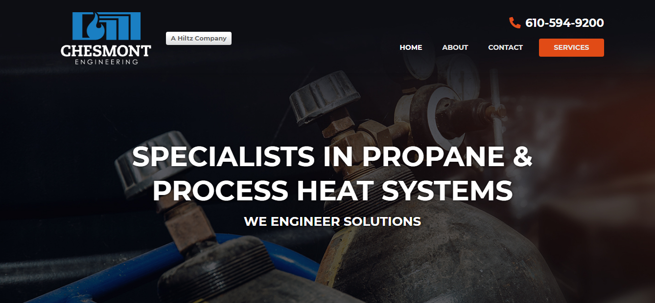 Portion of Chesmont Engineering Homepage