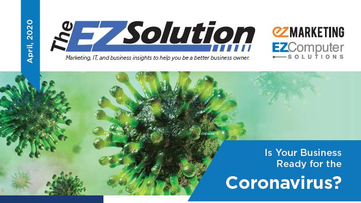 The EZSolution April 2020 Newsletter Screenshot