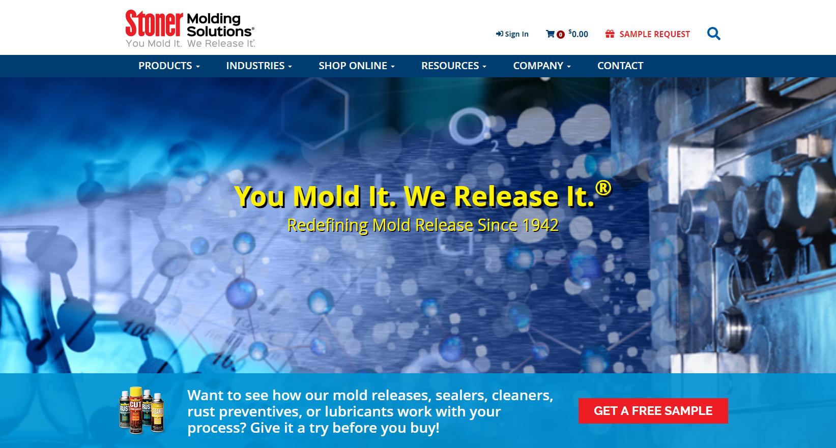 Stoner Molding Homepage Screenshot